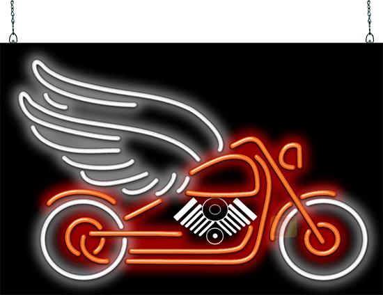 Motorcycle With Wings Neon Sign Am 85 03 Jantec Neon