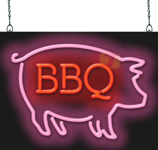 Bbq Pig Neon Sign Fbm 20 01 Jantec Neon