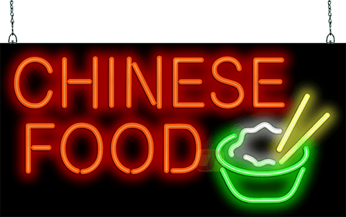 Chinese Food Large Neon Sign Fe 35 28 Jantec Neon
