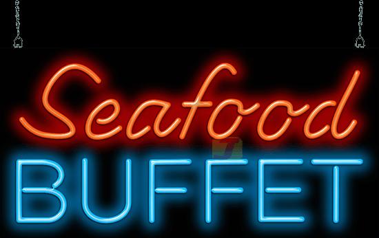 Seafood Buffet Neon Sign Ff 35 01 Jantec Neon