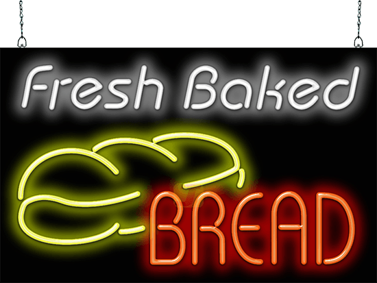 Fresh Baked Bread W Bread Neon Sign Fg 40 48 Jantec Neon