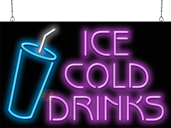 Ice Cold Drinks Neon Sign Fg 40 76 Jantec Neon