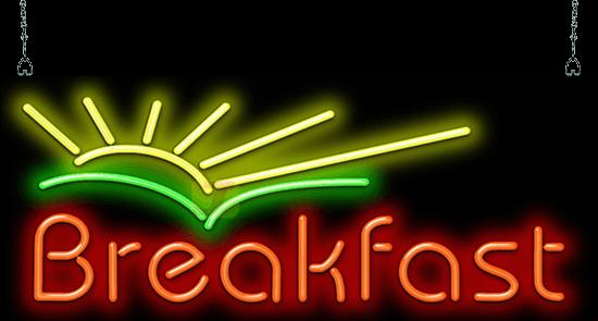 Breakfast W Sunrise Neon Sign Fgz 30 56 Jantec Neon