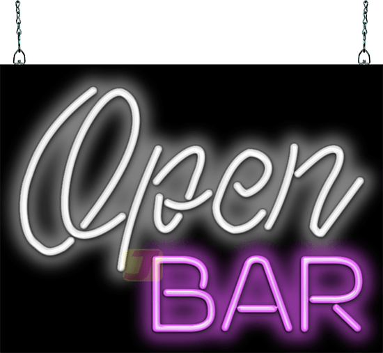 Open Bar Neon Sign Fl 25 36 Jantec Neon
