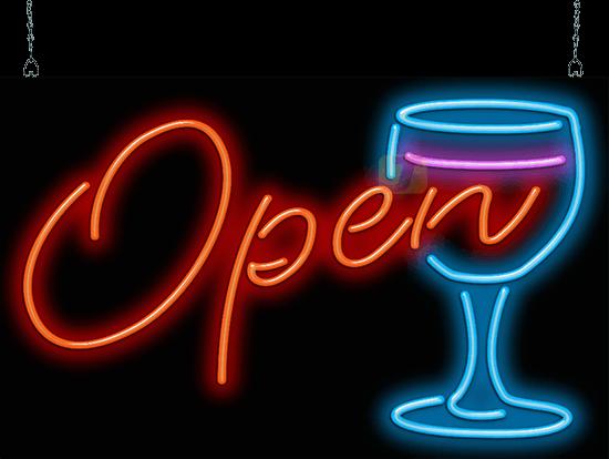 Wine Glass Open Neon Sign Flz 40 02 Jantec Neon