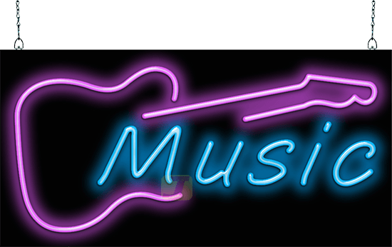 Music Guitar Neon Sign Fmz 35 12 Jantec Neon