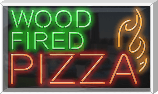 Outdoor Wood Fired Pizza Neon Sign Fp 70 04 Od Jantec Neon