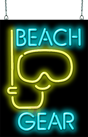 Beach Gear With Snorkel Neon Sign Gs 25 47 Jantec Neon