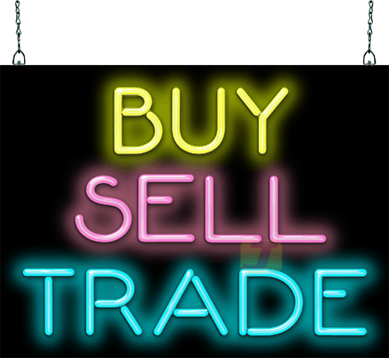 Buy Sell Trade Neon Sign Gs 25 51 Jantec Neon