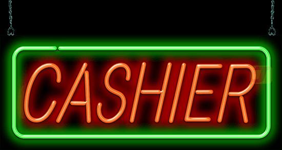 Cashier Neon Sign Gs 30 21 Jantec Neon