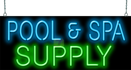 Pool And Spa Supply Neon Sign Gs 30 85 Jantec Neon