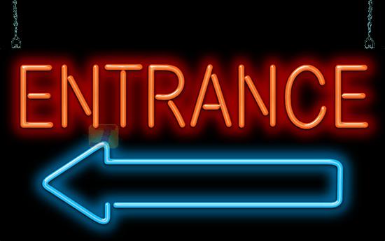 Entrance With Arrow Neon Sign Gs 35 34 L Jantec Neon