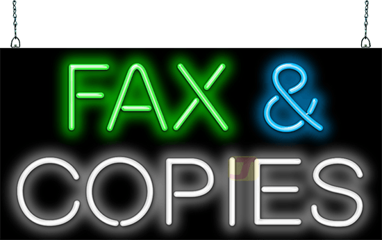 fax and copies neon sign gsz 35 41 jantec neon