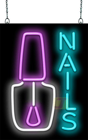 Nails With Nail Polish Neon Sign Hn 20 04 Jantec Neon