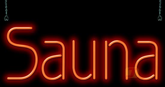 Sauna Neon Sign Hn 30 09 Jantec Neon