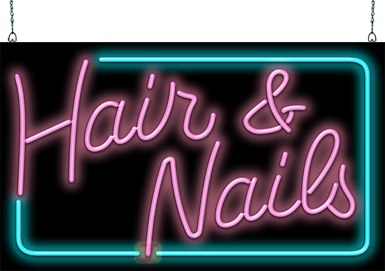 Designer Hair And Nails Neon Sign Extra Large Hn 70 93 Jantec Neon