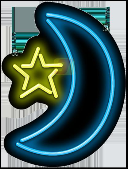 Star Moon Neon Sign