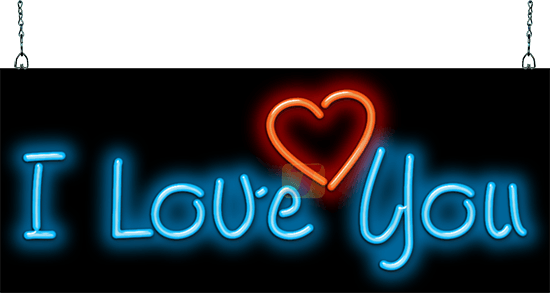 I love you neon sign hs 30 02 jantec neon for Love sign