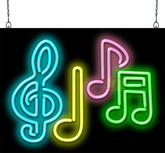 Music Notes Neon Sign Mg 25 11 Jantec Neon