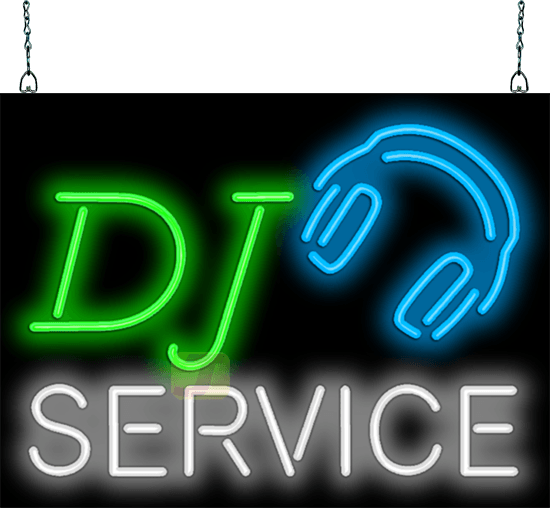 Dj Service Neon Sign Mg 25 14 Jantec Neon