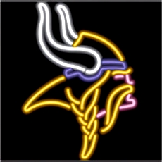 Minnesota Vikings Neon Sign Sp 47 Jantec Neon