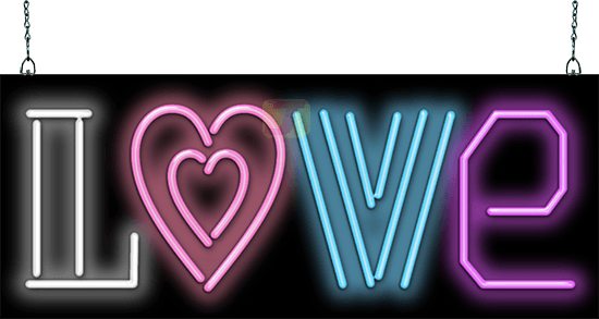 Love Neon Sign Pf 30 04 Jantec Neon