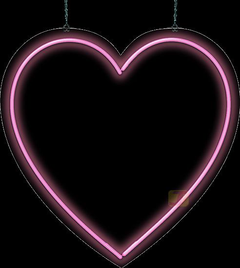 heart neon sign pink neon heart jantecneon com