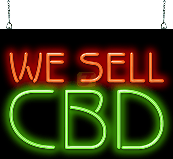 We Sell Cbd Neon Sign Ss 25 38 Jantec Neon