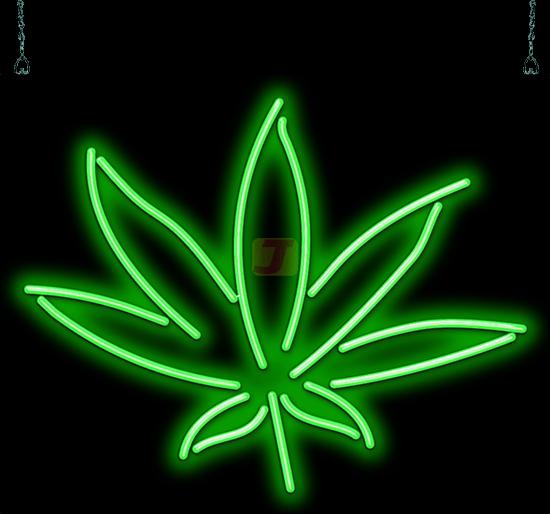 Hemp Leaf Neon Sign Ss 50 06 Jantec Neon