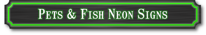 Pets neon signs fish and animal neon sign for Fish neon sign